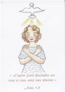 Carte de Confirmation (fille)